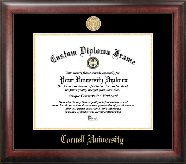 Cornell University Gold Embossed Diploma Frame