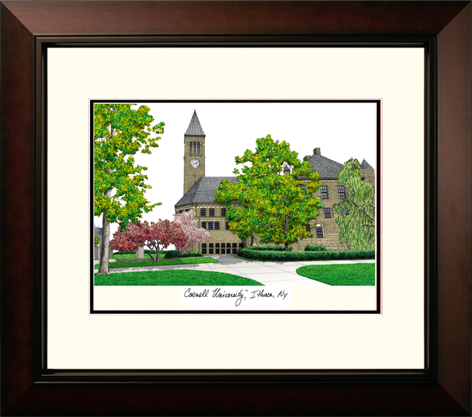 Cornell University Legacy Alumnus Framed Lithograph
