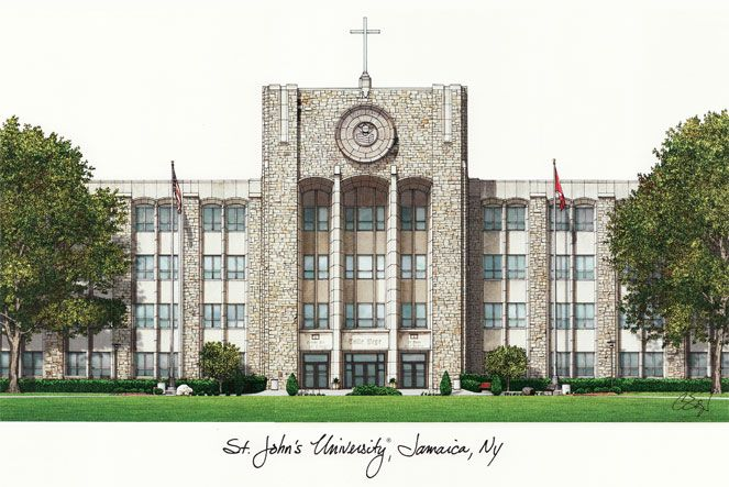 St. Johns University Campus Images Lithograph Print - NY998