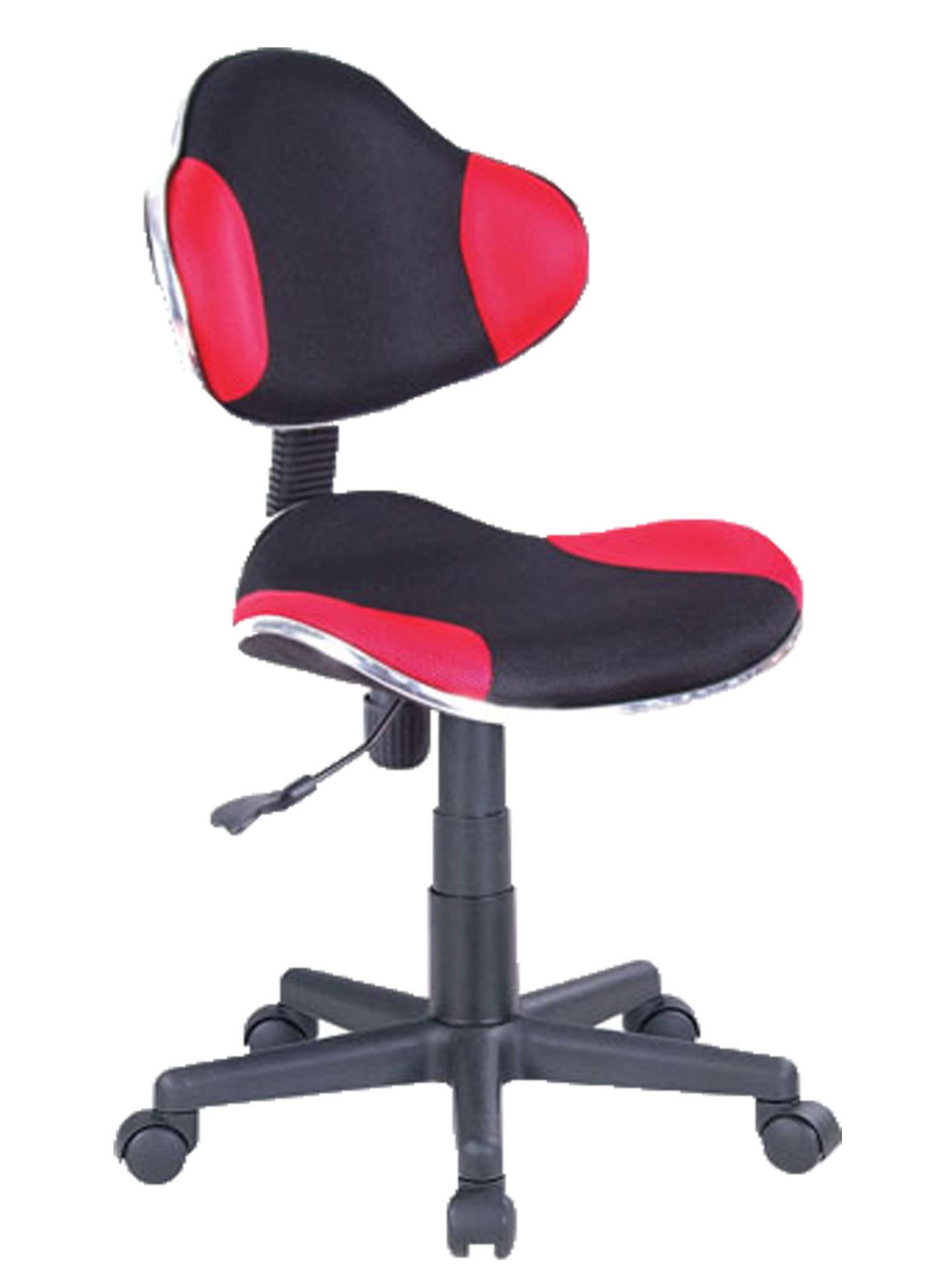 Computer Desk Office Chair w Red Mesh Fabric