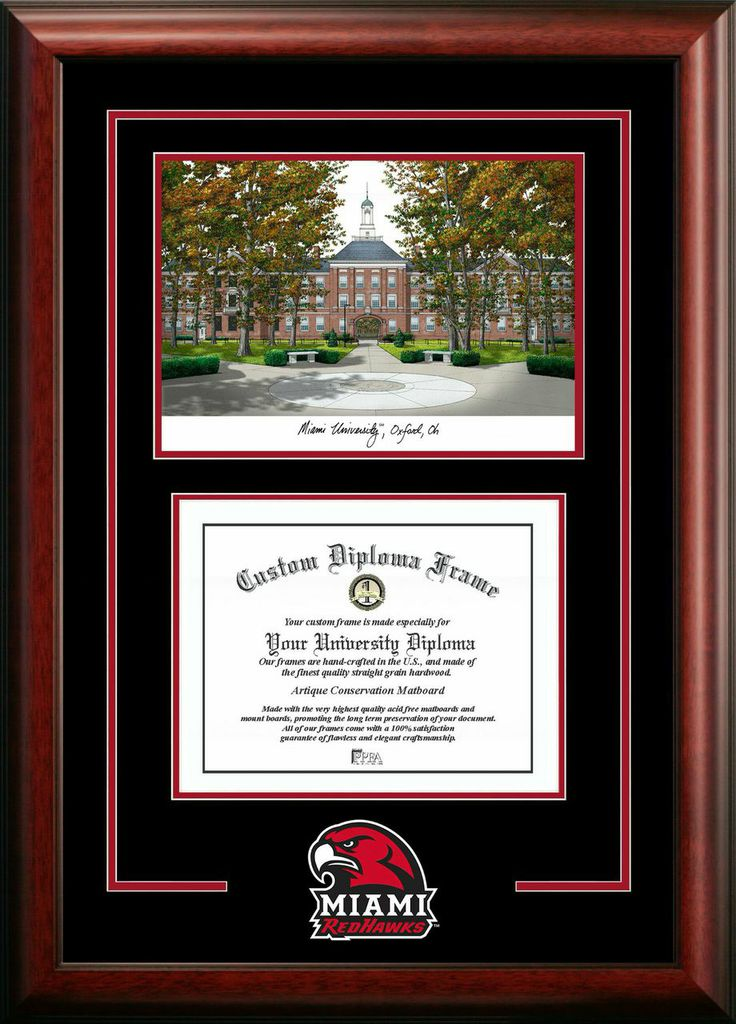 Miami University Ohio Spirit Graduate Frame with Campus Image