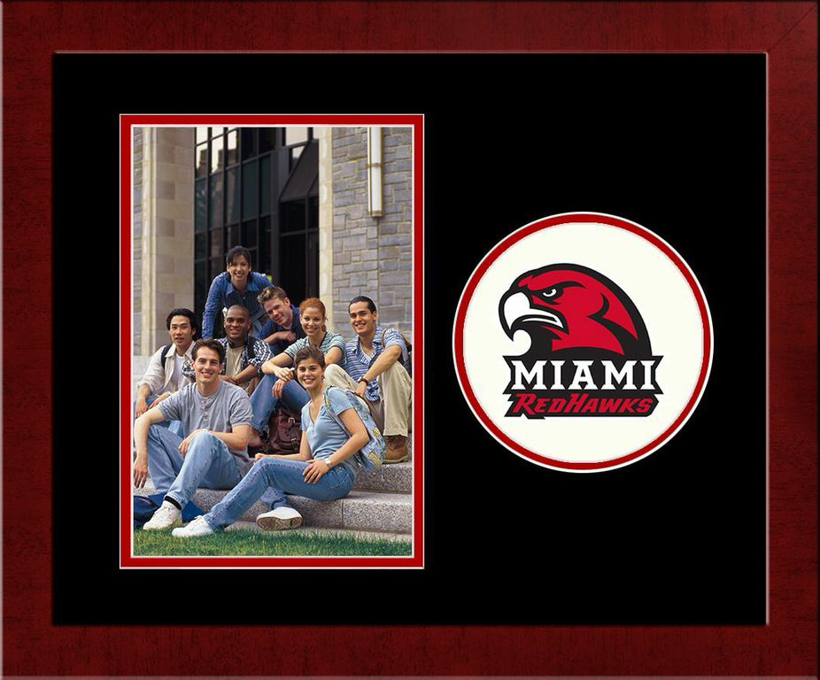 Miami University Ohio Spirit Photo Frame (Vertical)