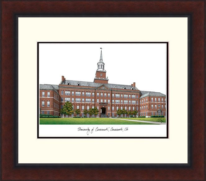 University of Cincinnati Legacy Alumnus Framed Lithogrpah