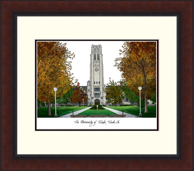 University of Toledo Legacy Alumnus Framed Lithograph