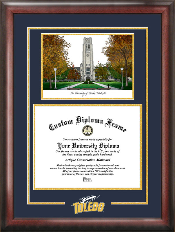 University of Toledo Spirit Graduate Frame with Campus Image