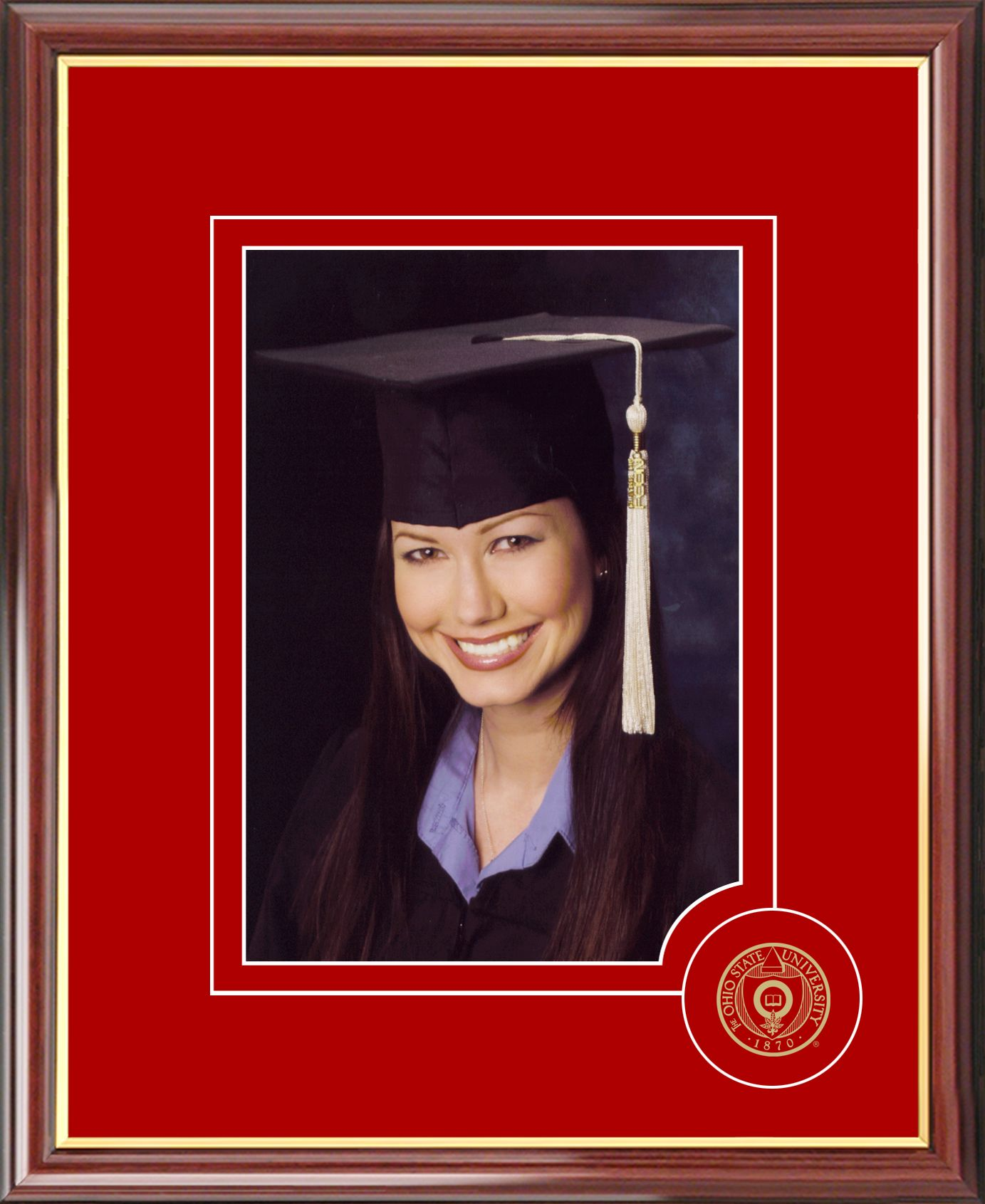 Ohio State University 5X7 Graduate Portrait Frame