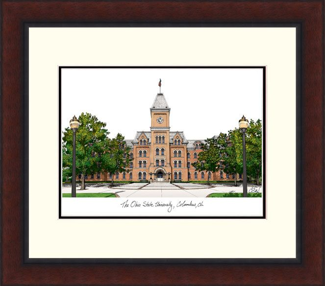 Ohio State University Legacy Alumnus Framed Lithograph