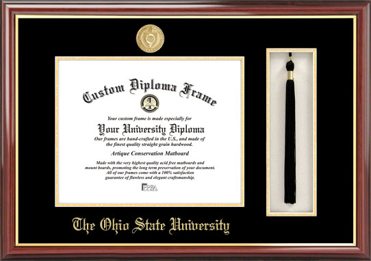 Ohio State University  Tassel Box and Diploma Frame