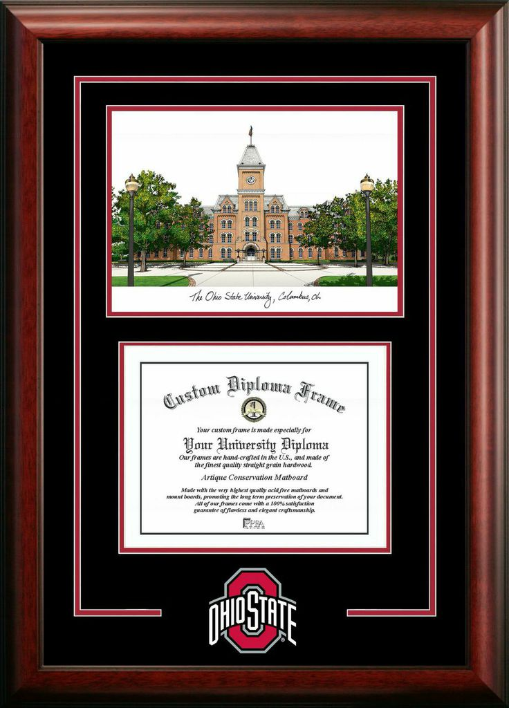 Ohio State  University Spirit  Graduate Frame with Campus Image