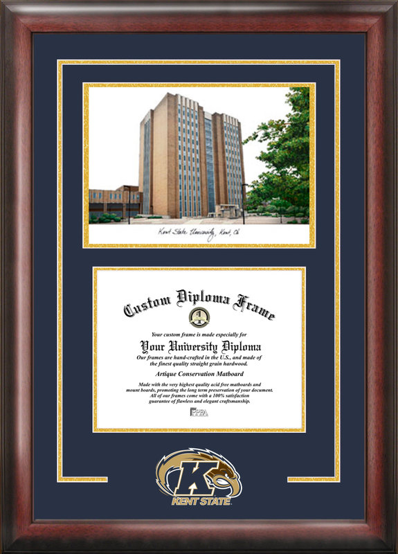 Kent State University  Spirit Graduate Frame with Campus Image