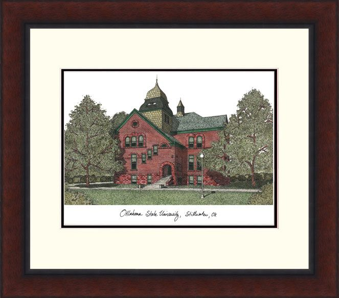 Oklahoma State University Legacy Alumnus Framed Lithograph