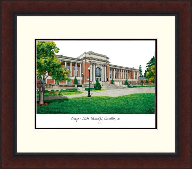 Oregon State University Legacy Alumnus Framed Lithograph