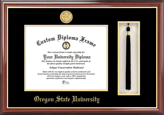 Oregon State University  Tassel Box and Diploma Frame