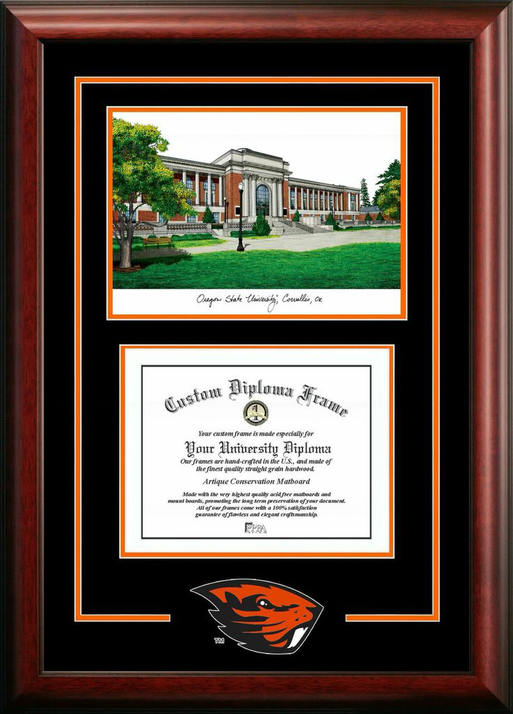 Oregon State University  Spirit Graduate Frame with Campus Image