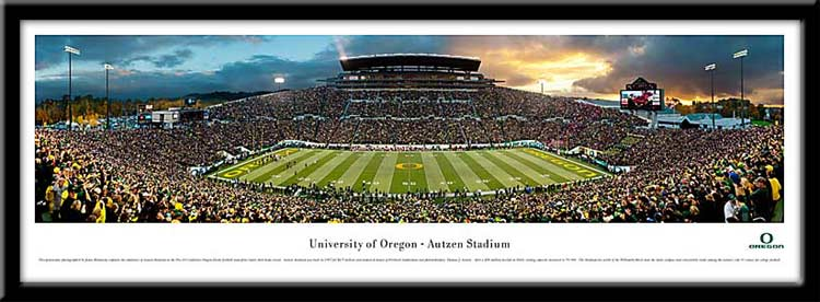 University of Oregon Framed Stadium Print