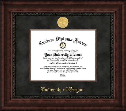 University of Oregon  Executive Diploma Frame