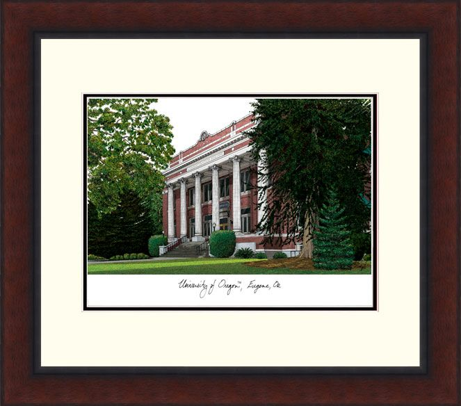 University of Oregon Legacy Alumnus Framed Lithograph