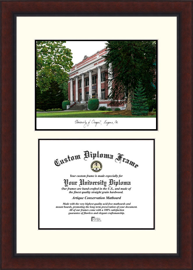 University of Oregon  Legacy Scholar Diploma Frame