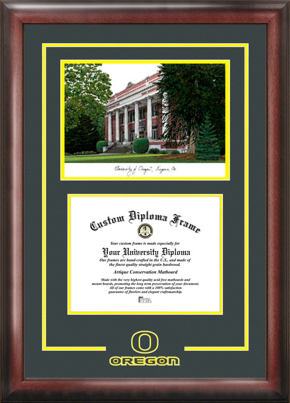 University of Oregon Spirit Graduate Frame with Campus Image