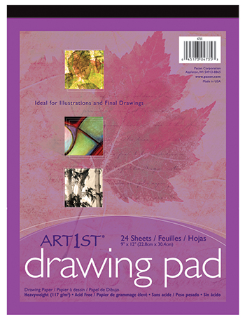 Art1st Drawing Pad 9x12 24 Sht Wht - PAC4735