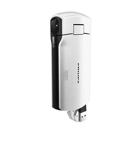 Gemini/Philips OPhilips HD Pocket Camcorder White w 4GB - PHIL-CAM300WH - PHIL-CAM300WH