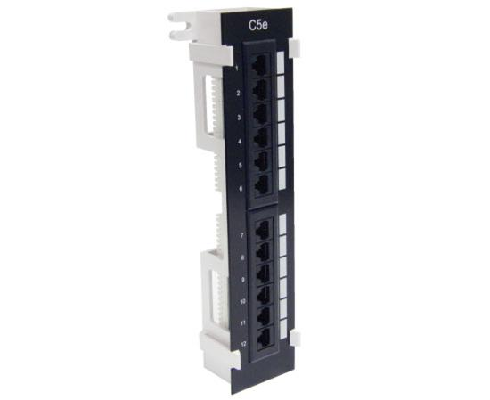 Primus Cable PP1-297/12M Cat5E Vertical Ethernet Patch Panel for Networking, 12 port