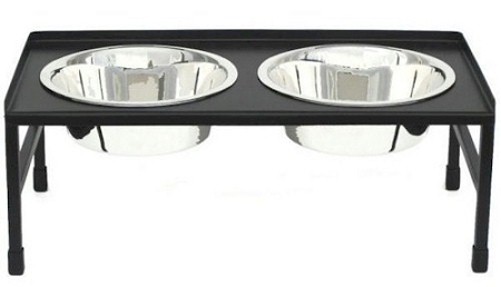 PetsStop Tray Top Elevated Dog Bowl - Medium - RDB14-M