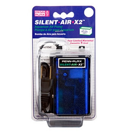 Penn Plax Silent-Air Pump for 20 Gallon Aquariums - SAX2
