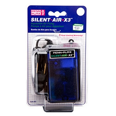 Penn Plax Silent-Air Pump for 30 Gallon Aquariums - SAX3
