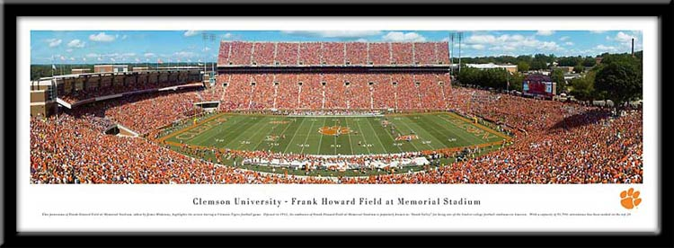 Clemson University Framed Stadium Print