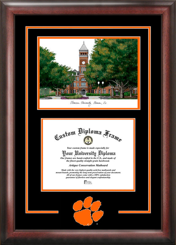 Clemson University Spirit  Graduate Frame with Campus Image