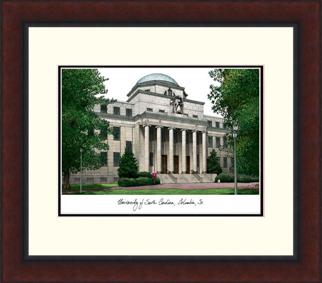 University of South Carolina Legacy Alumnus Framed Lithograph