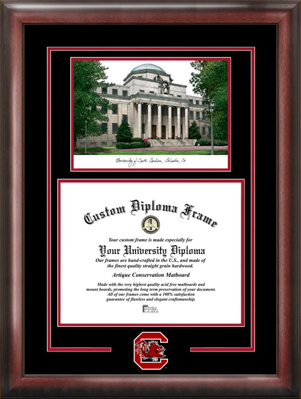 University of South Carolina Spirit Graduate Frame with Campus Image