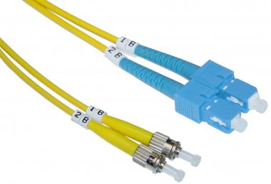 SC / ST, Single Mode, Duplex Fiber Optic Cable, 9/125, 15 Meter - SCST-01215