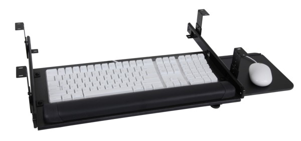 Sunway SLT408BK Slide Drawer Keyboard Tray System with slide-out mouse tray