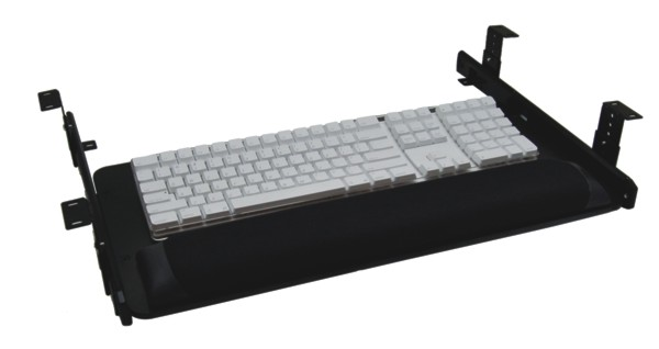 Slide Drawer Keyboard Tray System - 20 Inch; Vinyl/Foam Pad, Keyboard Only