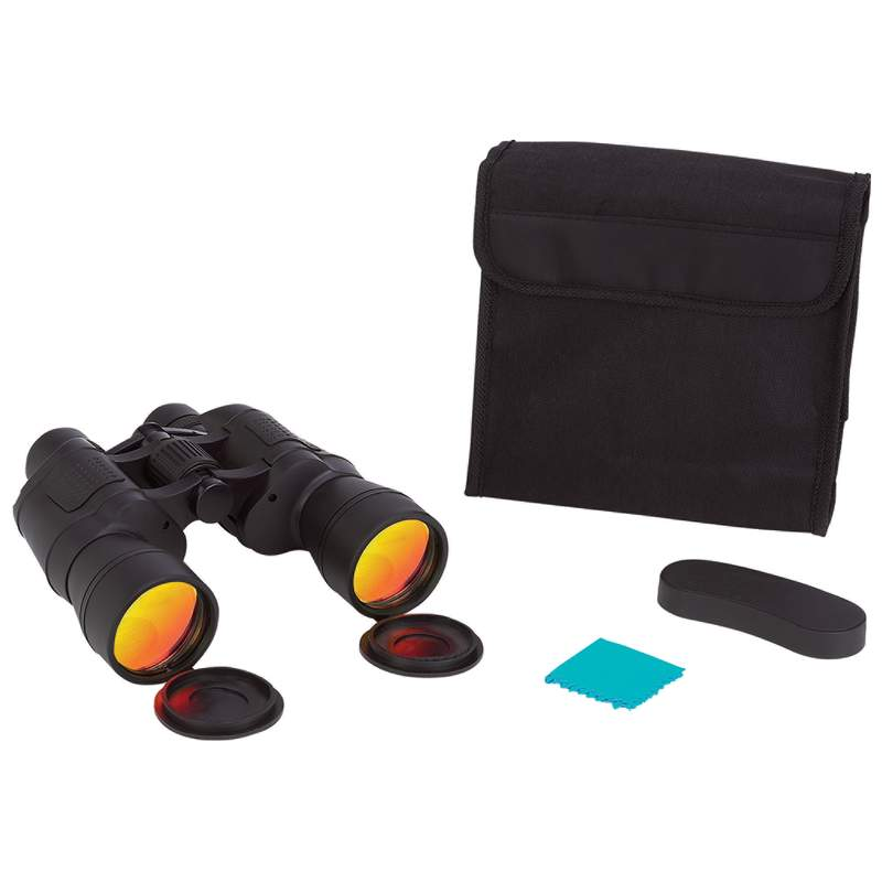 Magnacraft® 10x50 Binoculars With Ruby Red Coated Lenses For Glare Reduction - SPB10504