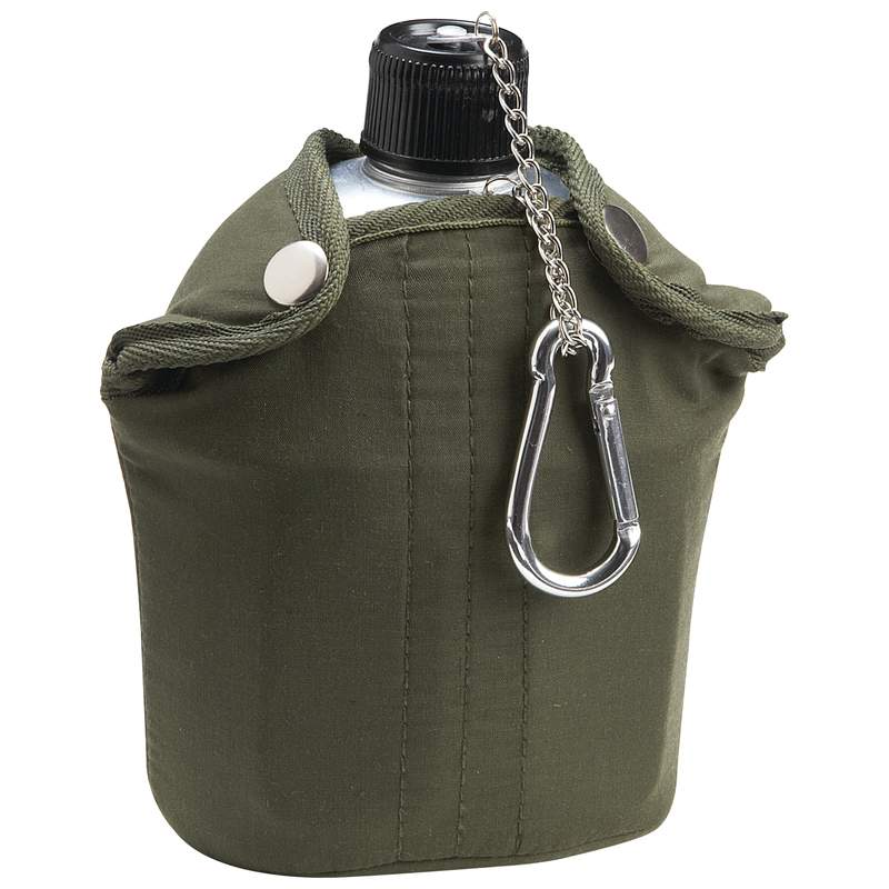 Maxam® 32oz Aluminum Canteen With Cover And Cup - SPCANTN - SPCANTN
