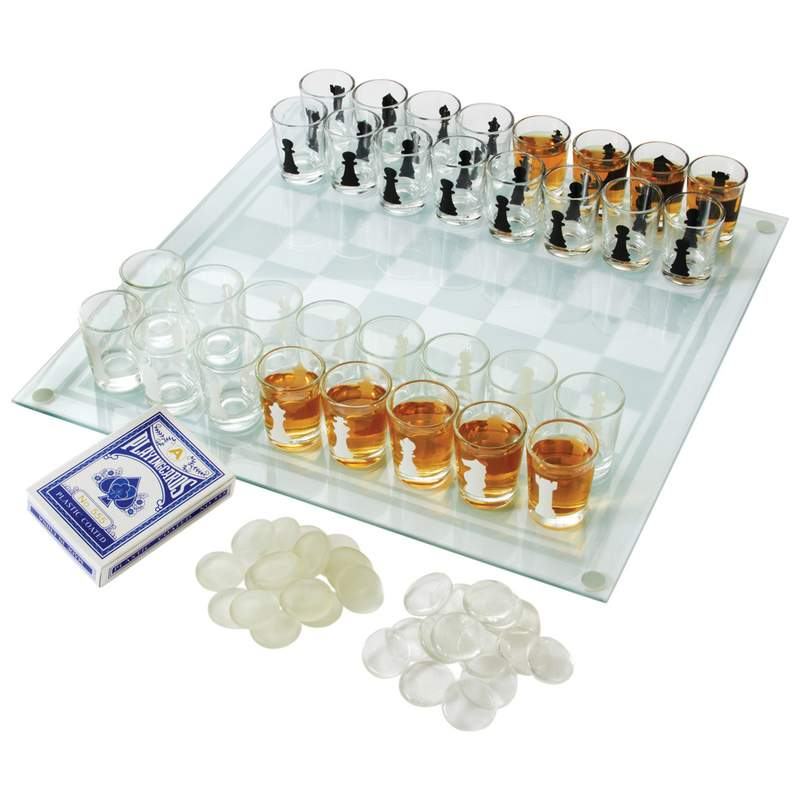 Maxam™ 3-in-1 Shot Glass Chess Set - SPCHESS2