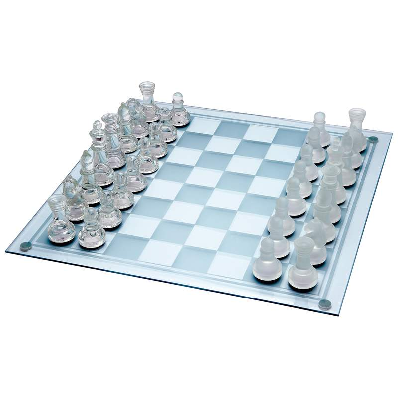 Maxam™ 33pc Glass Chess Set - SPCHESS
