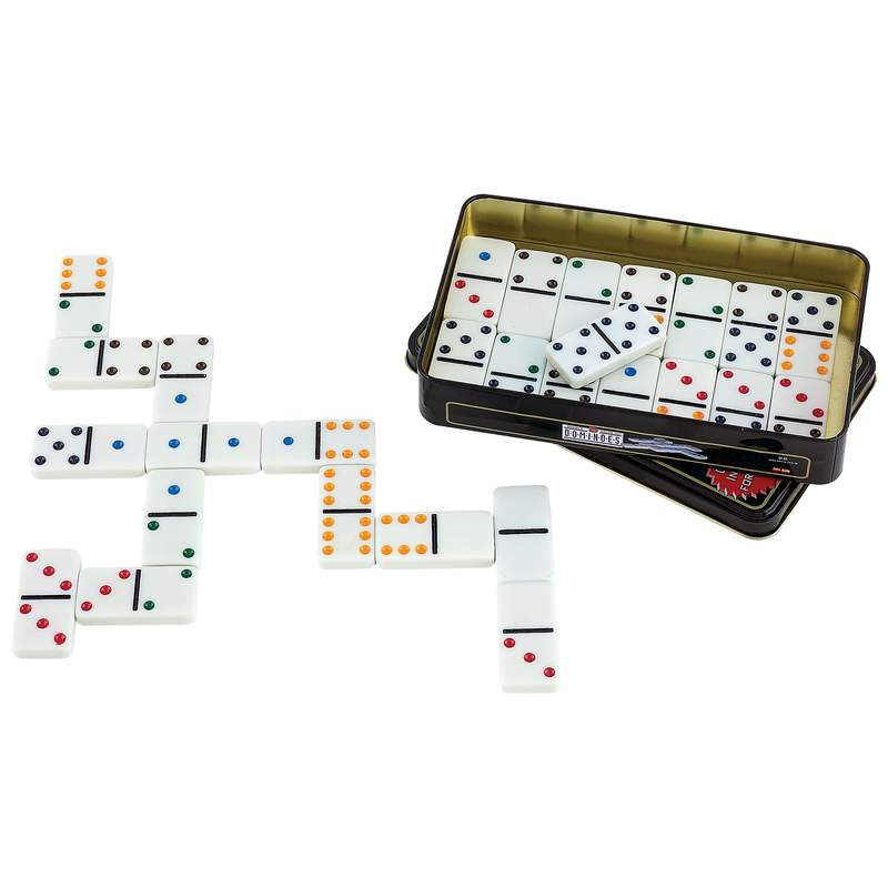 Maxam™ 28pc Double 6 Color Dot Domino Set - SPDOM6
