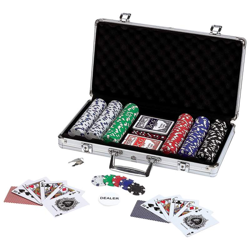 Maxam™ 309pc Poker Chip Set In Aluminum Case - SPOK309