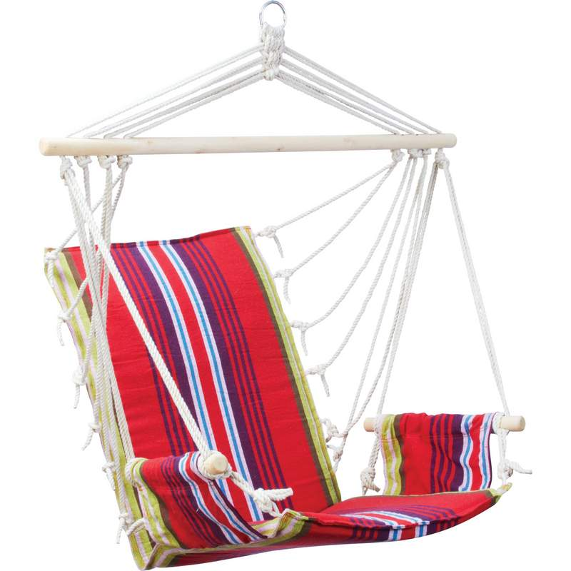 Club Fun™ Cushioned Hanging Rope Chair With Arm Rests - SPSWING4
