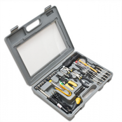 SYBA 56 Pieces Computer Tool Kit, Handsome See though Case, Solder set - SY-ACC65033