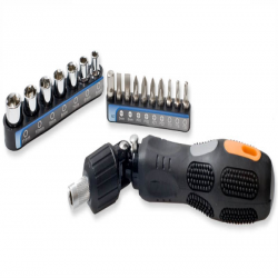 SYBA 18-Piece 2-in-1 Design Ratchet & Screw Driver Tool Kit - SY-ACC65042