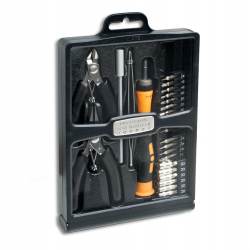SYBA 32 Piece Hobby Tool Kit Housed in a Black Slim Handsome Fold-out Case - SY-ACC65049
