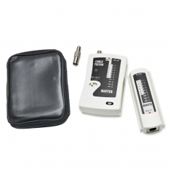 SYBA 2-Piece Multi-Network Cable Tester for RJ45, RJ-11, RJ-12, Coaxial, and Modular Cables - SY-ACC65050