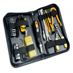 SYBA 43 Piece PC Basic Maintenance Tool Kit with Chip Extractor and Wire Stripper - SY-ACC65051