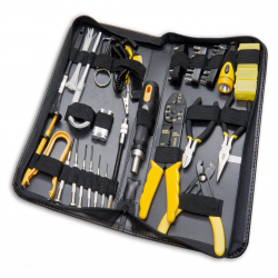SYBA 58 Piece Tool Kit for Handyman, Computer Technician, and Electrician - SY-ACC65052
