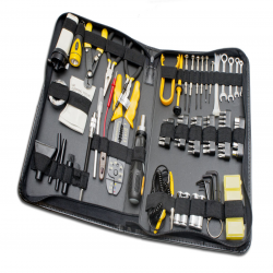 SYBA 100 Piece Computer Technician Tool Kit for Repairing, Wiring, Cleaning, and Testing - SY-ACC65053